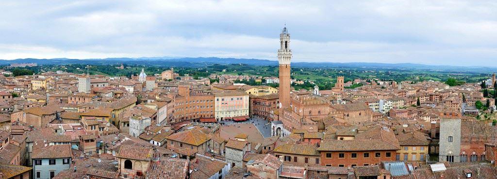 siena, piazza del campo, view, tuscany, palio